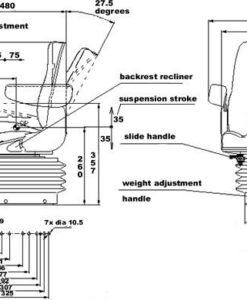 Case Tractor Suspension Seat