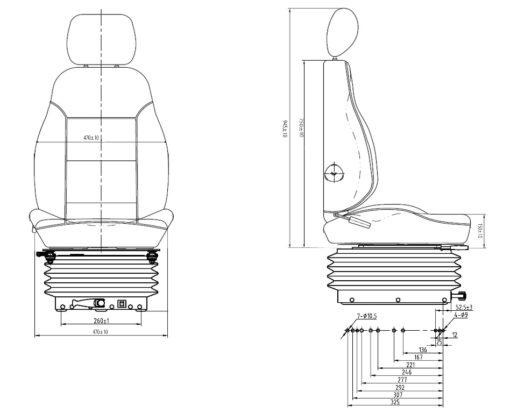 P51L/CM100 Construction-Equipment-Loading-Shovel-Digger-Excavator-Seat