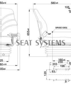 BF34/KE80 Compact Air Suspension Seat